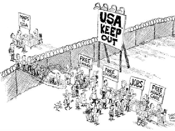 Illegal immigration Problems or Problems caused by illegal immigration